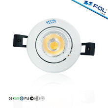High Lumen 1000LM 10W 3 Inch Triac Dimmable COB LED Spotlight For Jewelry Store