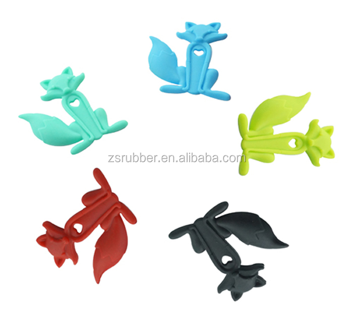 BPA Free Fox Shape Silicone Baby Teething Gel Toy For Todler