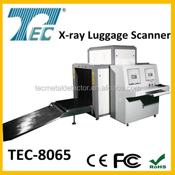 2016 Hot sell X-ray machine luggage and cargo security scanner TEC-8065 with high sencitivity to metal and weapons