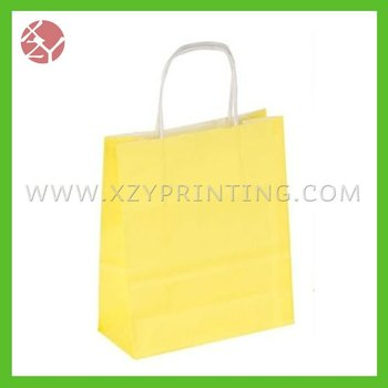 Cheap customize printed kraft paper packaging bag