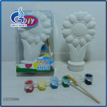 high quality Diy paint your own statue ceramic flower painting set