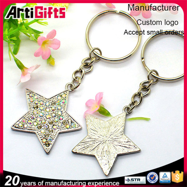 Wholesale metal blank star key chain