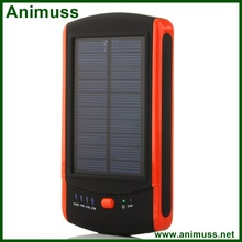 Mobile accessories 2 USB output Waterproof Sporty Solar Power Bank Charger 6000mah