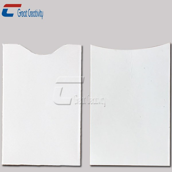 "White Standard 3.5"" x 2.25"" rfid Credit Card Sleeve Protective rfid protection sleeve"
