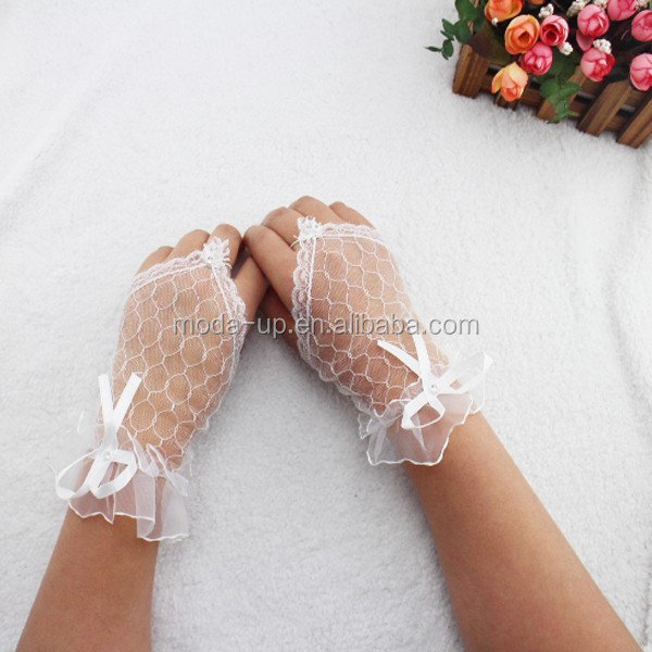 Fingerless lace bridal gloves, cheap lace gloves