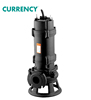 CURRENCY WQV Series Non-Clog Centrifugal Submersible Sewage Pump With Cutter