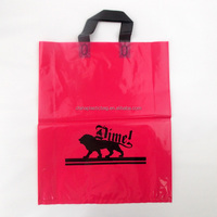 PE plastic handle loop packaging bag