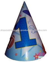 First Birthday All Star Party Hats , pack of 8