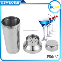 stainless steel cocktail shaker cheap custom logo shaker bottle