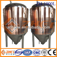 red copper beer fermentation tanks/fermenting tanks CE OEM factory