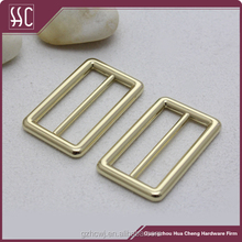 metal shiny gold adjustable buckle slide strap buckle