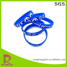custom WWJD embossed printed logo silicone rubber wristband
