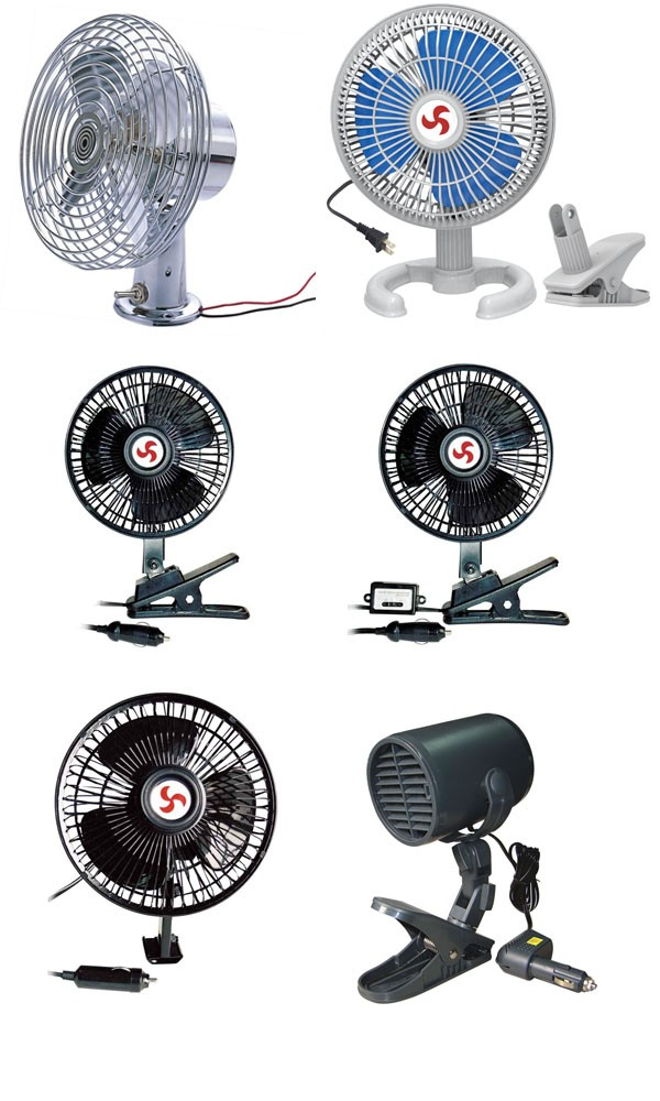 "6"" Inch 12 volt car fan oscillating fan for install car roof fan"
