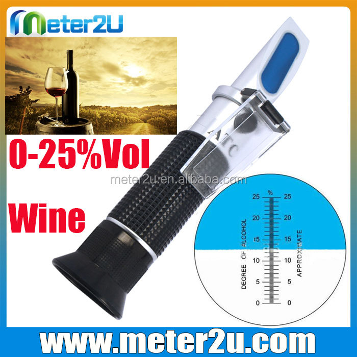 2016 China hand held portable wine alcohol refractometer 0-25%Vol