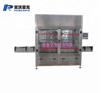 Automatic liquid soap and detergent filling capping machine
