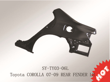 for Toyota Corolla(2007-2009) suyang auto rear left fender auto body parts made in China