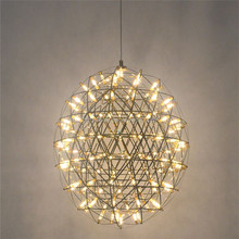 modern SS hotel lobby star LED chandelier egg oval shape pendant light