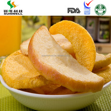 Vacuum fried apple chips as health snacks mix vegetable chips