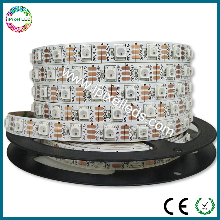 Waterproof 60 Pixels/m WS2812b LED Strip Outdoor - P16.6, 5 meter roll