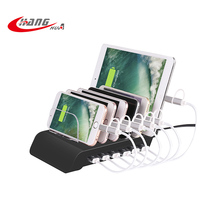 USB 6 Ports 10.2A smart IC mobile phone charging station/ charging dock