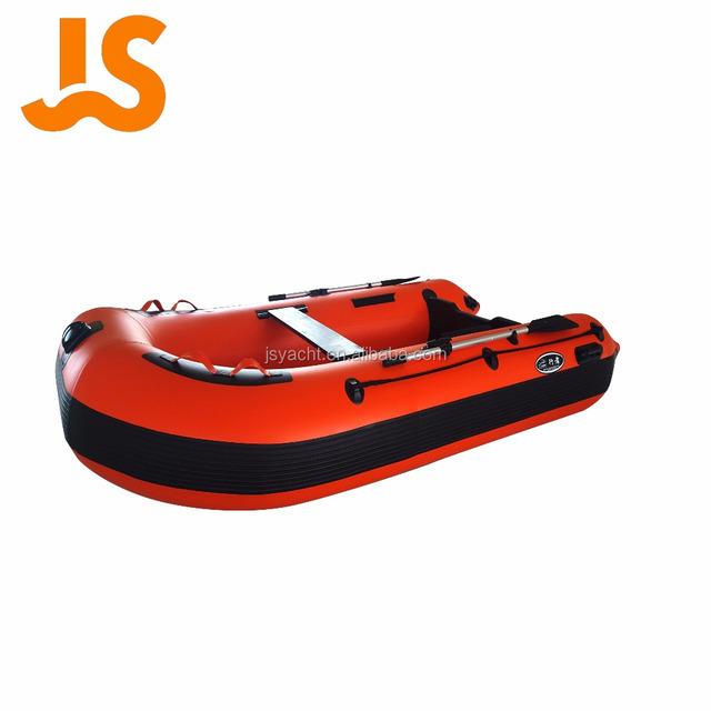 China made hot sail cheap PVC/Hypalon 3.8m inflatable schlauchboot fishing catamaran boat price Red JSD-380AL