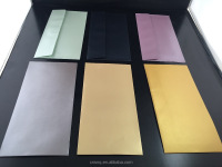 DL/C6 120g Metallic Envelops Cartstock/ Pearl Paper Premium Envelopes with well package
