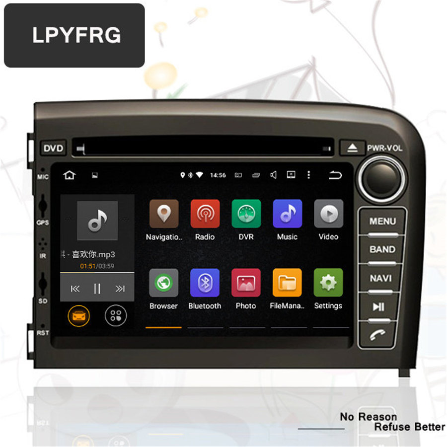 lpyfrg 7'' touch screen android 7.1 Car Multimedia stereo For Volvo S80 1998 - 2006 Car pc headunit dvd vcd cd player GPS usb bt