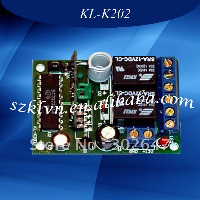 Universal dc12v Home Appliance RF Wireless Remote Control Relay Switch KL-K202