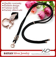 XD A0015 Adjustable Pure Cotton Cord Micro Pave Jewelry Wholesale with 925 Sterling Silver Clasp
