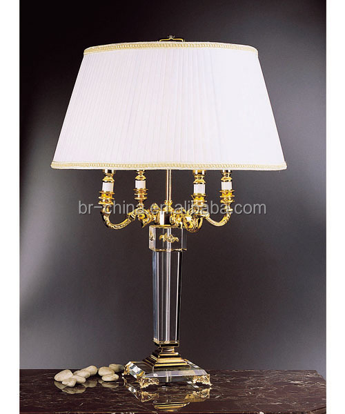 crystal glass chandelier table lamp
