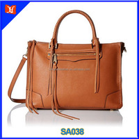 Genuine cow leather handbag for women tote shoulder cross body bag wholesale top layer leather businee fashion lady's