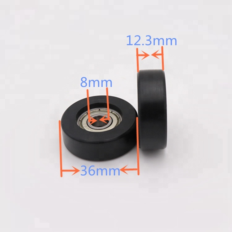 Nylon pulley with 608 bearing sliding door roller 608 pulley wheel small ball bearing wheel