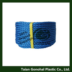 colored pp monofilament 3 strands twisted rope
