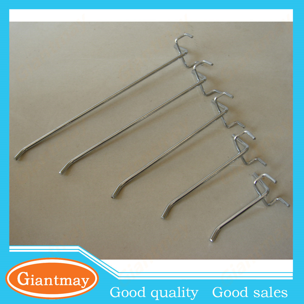 standard single prong used metal hanger wire pegboard display hooks