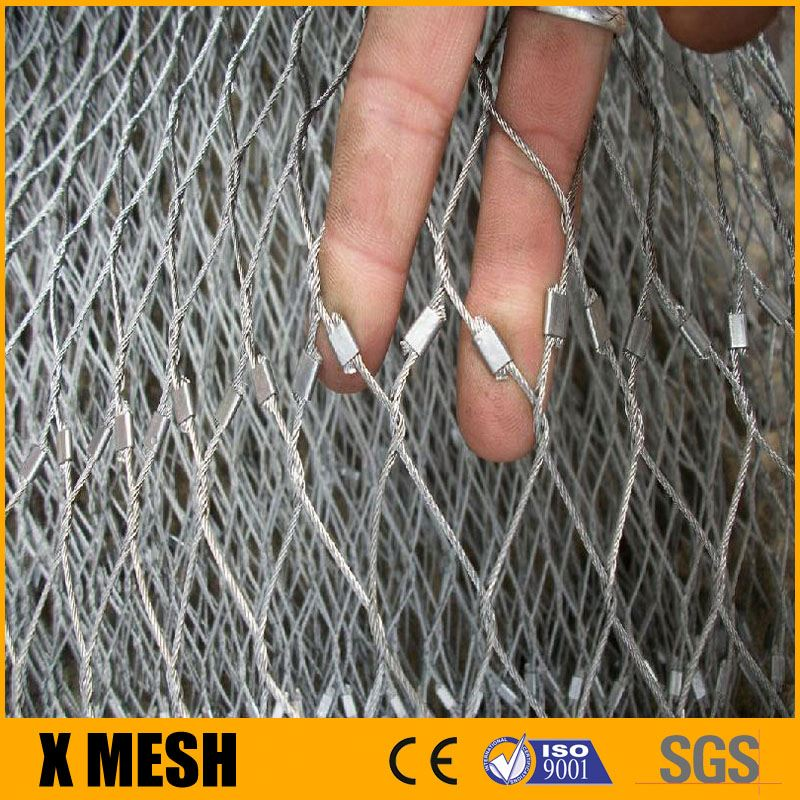 Stainless steel wire rope mesh fence/Cable Wire Mesh Fence Manufacture in china