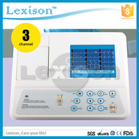 High Quality Electrocardiogram ECG-R3303G : CE/ISO Approved 3 Channel 12 Leads Digital Portable Ecg Machine with Best Price