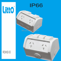 New 250V Waterproof power point Double