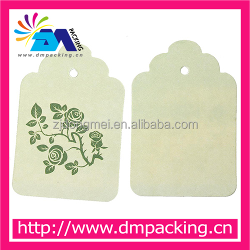 Garment Marking Labels Light green Flower Pattern price tag