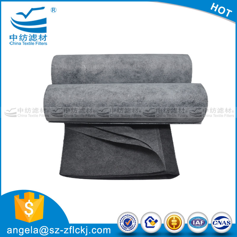 Odor Absorbing Activated Carbon Fabric Filter Nonwoven In China