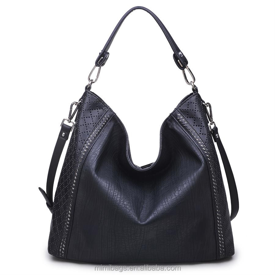 Fashion Hotsale New Hotsell Celebrity Girl Faux PU Leather Handbag Tote Shoulder Bags Casual Handbag
