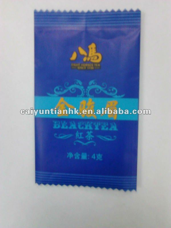 Blue & mini back sealed bag for black tea packaging --Eight horses tea
