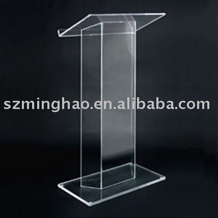 clear acrylic lecture table/ acrylic podium/ speech desk