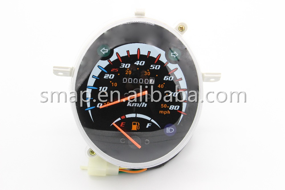 Speedometer, Scooter 50CC 25KM speedlimit KM/MPH Meter For Lintex