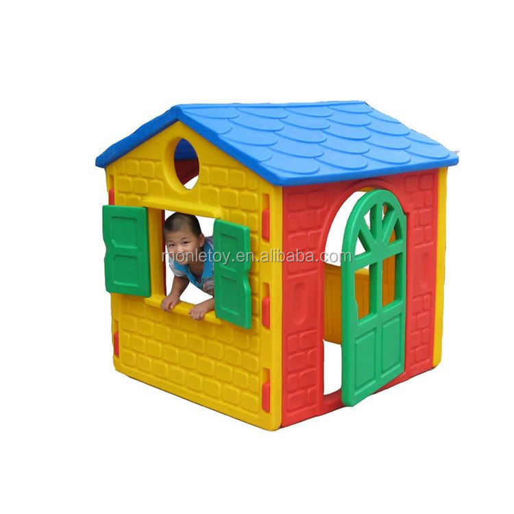 Color customizable kindergarten plastic and slide playhouse for kids outdoor