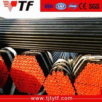 Chinese suppliers Direct factory black steel seamless pipes sch40 astm a106