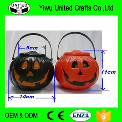 pumpkin shaped decorative plastic candy jar with cover