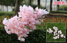 3 branches 1 layer hot sale silk cherry blossom branch pear blossom silk wedding decoration 3 banches 1 layer