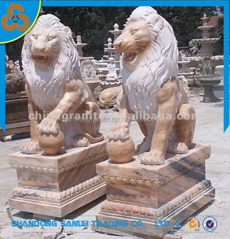 Large outdoor statues marble lion statues for sale buy for Lawn ornaments for sale