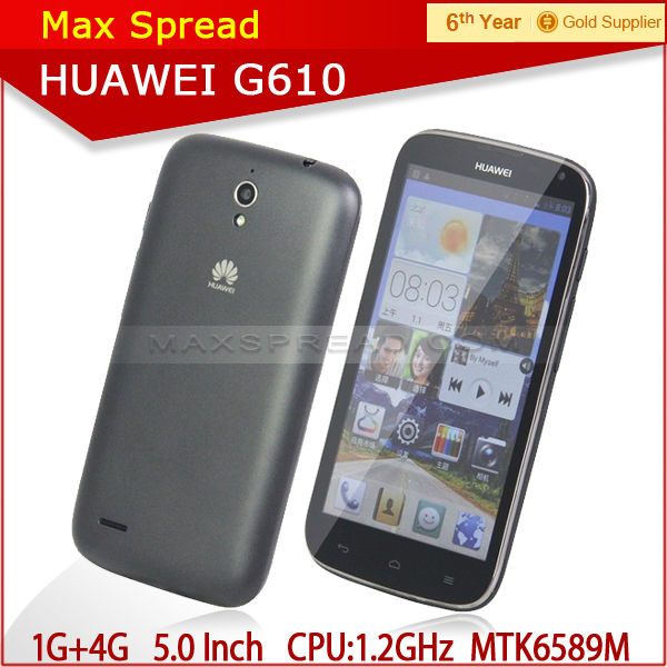 with english box Huawei G610S 5.0 inch 3G Android 4.2 Mobile Phone 1GB/4GB WCDMA GSM android yxtel mobile phone