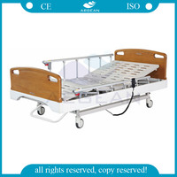 AG-BY106 full size hospital bed with imported Linak motor 6 crank handrails used electric medical hospital bed rental